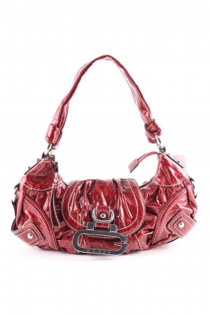Guess Carry Bag dark red wet-look