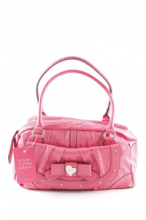 Guess Carry Bag magenta floral pattern romantic style
