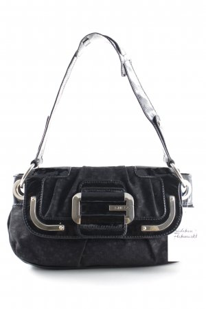 Guess Carry Bag black graphic pattern business style