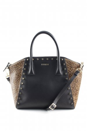 Guess Carry Bag black-sand brown leopard pattern extravagant style