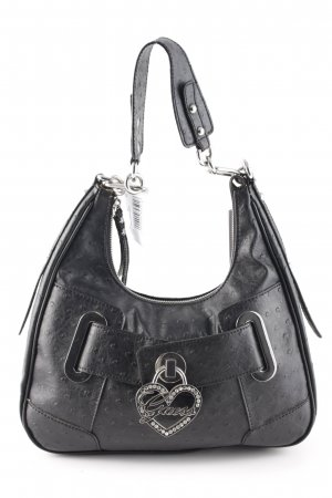 Guess Carry Bag black-silver-colored elegant