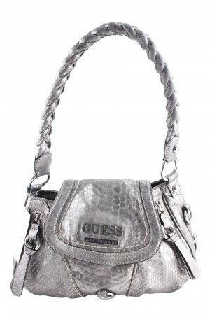 Guess Carry Bag silver-colored street-fashion look
