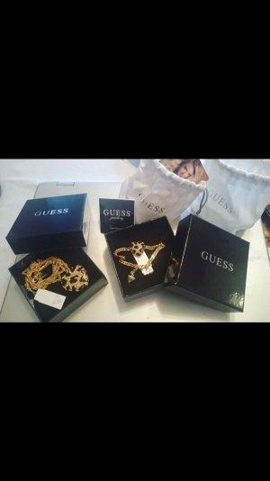 GUESS Herz Halskette & Armband Leopard Set NEU