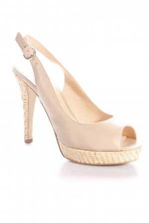 Guess High Heel Sandal beige Bast elements