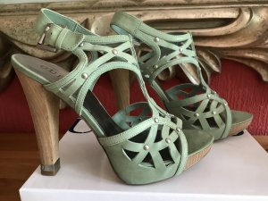 Guess High Heel Sandal lime-green-sand brown leather