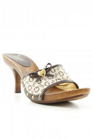 Guess High Heel Sandaletten Monogram-Muster Casual-Look