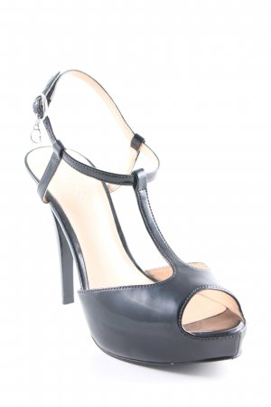 Guess High Heel Sandaletten schwarz Lack-Optik