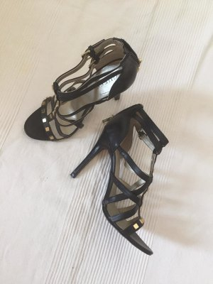 Guess Tacones altos negro-color oro