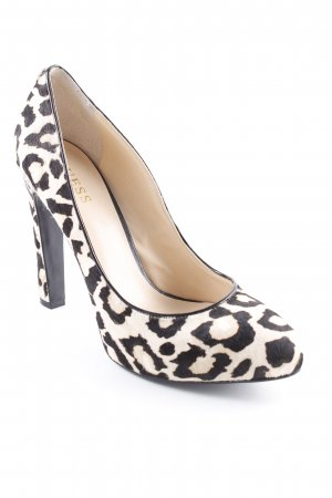Guess High Heels creme-schwarz Animalmuster Animal-Look