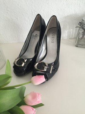 GUESS Sandalias de tacn piel color blanco. Tacones. Zapatos Talla 40 PVP 160