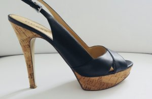 Guess High Heels Gr. 41 Echtleder schwarz Peep Toe Pumps