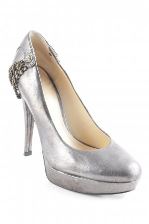 Guess Tacones altos gris-color oro look efecto mojado