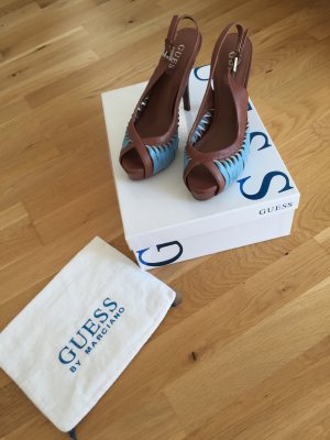 Guess Tacones altos marrón-azul bebé