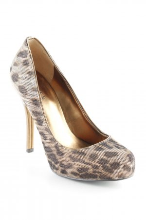 Guess Tacones altos estampado de leopardo brillante