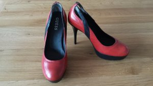 Guess High Heels, rot/schwarz