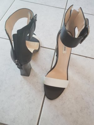 Guess High-Heeled Sandals white-black