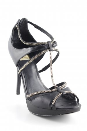Guess High Heels schwarz-goldfarben Party-Look