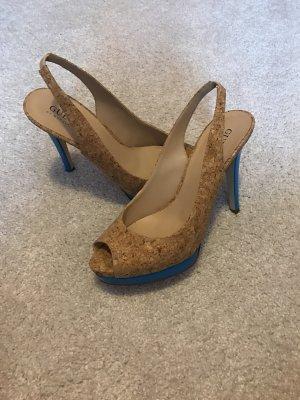 Guess High Heel Sandal beige-neon blue