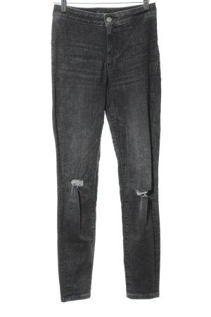 Guess Hoge taille jeans grijs ontspannen stijl
