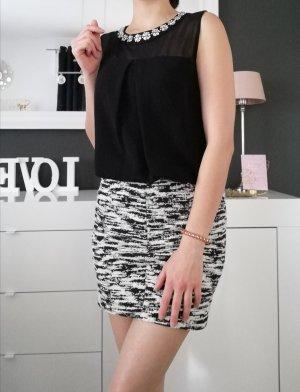 Guess High Waist Skirt white-black