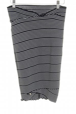 Guess High Waist Skirt black-white horizontal stripes casual look