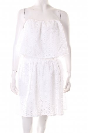 Guess Vestido Hippie blanco Aberturas decorativas