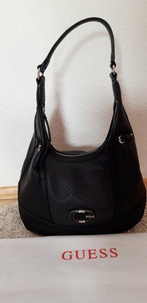 Guess Hobobag schwarz/silber neuwertiger Zustand