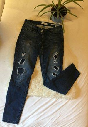 Guess Pantalón tobillero azul oscuro