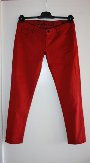 Guess Pantalone a vita bassa ruggine Tessuto misto