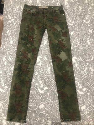 Guess Pantalón de cintura alta verde