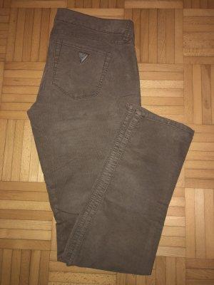 Guess Pantalone di velluto a coste beige-color cammello