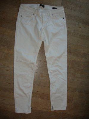 Guess Vaquero skinny blanco-color plata Algodón