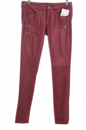 Guess Low-Rise Trousers dark red casual look