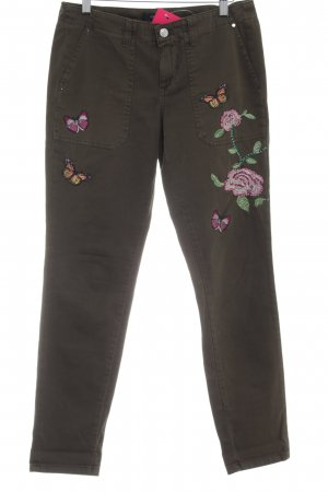 Guess Pantalone a vita bassa verde oliva stile casual