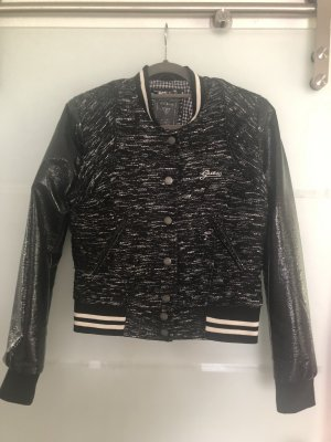 Guess College Jacket black-white