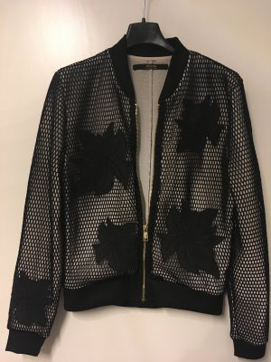 Guess Bomber Jacket black-pink polyester
