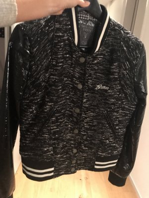 Guess College Jacket black-natural white