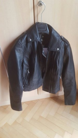 Guess Leather Jacket black