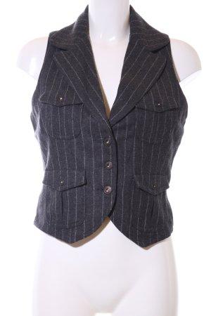 Guess Jeans Gilet de costume noir motif rayé style d'affaires