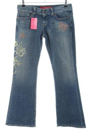 Guess Jeans Jeans svasati blu Stampa a tema stile casual