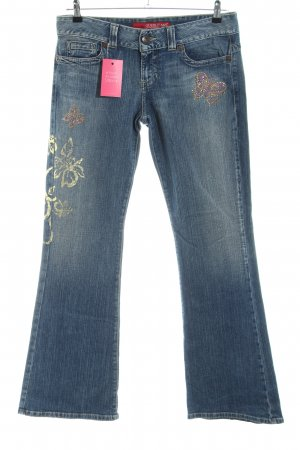 Guess Jeans Boot Cut Jeans blau Motivdruck Casual-Look