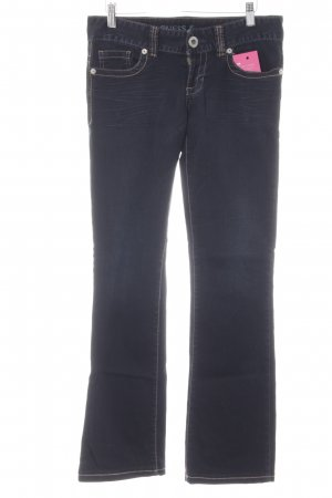 Guess Jeans Boot Cut Jeans dunkelblau Casual-Look