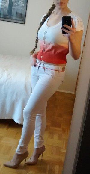 Guess Jeans Gr. 25 XS W25 skinny slim rosa hellrosa röhren sexy röhrenhose