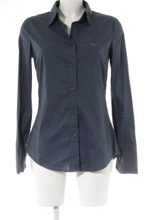 Guess Jeans Hemd-Bluse petrol klassischer Stil
