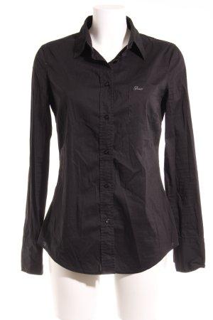 Guess Jeans Hemd-Bluse schwarz klassischer Stil
