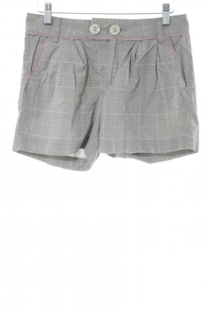 Guess Jeans Hot Pants hellgrau-weiß Karomuster Casual-Look