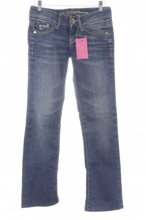 Guess Jeans Hüftjeans dunkelblau-hellgelb Washed-Optik