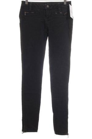 Guess Jeans Hüftjeans schwarz Zierreißverschluss