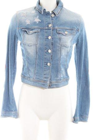 Guess Jeans Jeansjacke blau Casual-Look