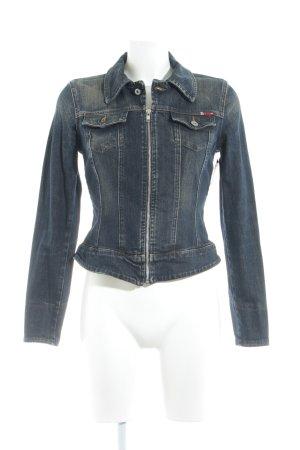 Guess Jeans Jeansjacke dunkelblau klassischer Stil